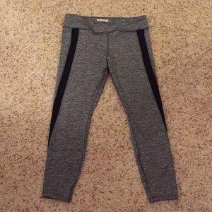 Forever 21 Mesh insert leggings.  Crop length